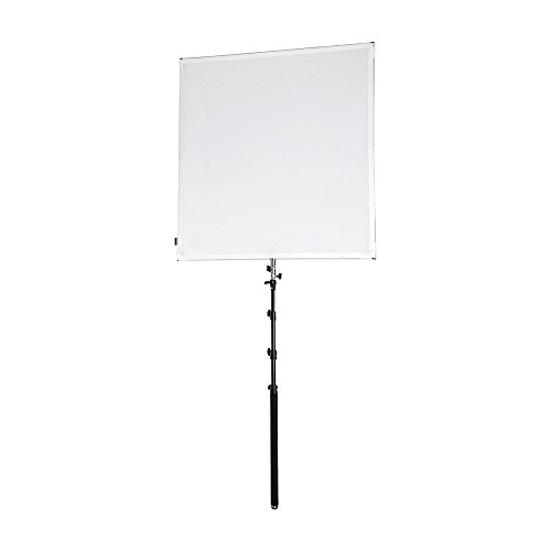 Fotodiox Pro Studio Solutions New 122cm x 122cm (4' x 4') Collapsible Frame Diffusion & Silver/White Reflector Kit with Handle & Carry Bag, Black (Sun-Scrim-Boom-4x4)