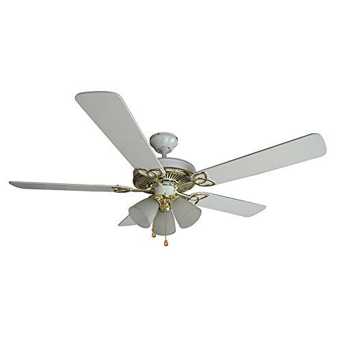 "Comfort Zone CZST161BTE Fan Pendulum Oscillating Quad Pod, 16"", White"