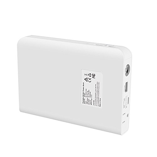 AIVANT 24000mAh Power Bank, Ultra-High Capacity External Battery Packs Portable Charger W/ AC Outlet and 3 USB Ports Fast Charging 5.4A Max Output for Smartphone Tablet and More(White) by AIVANT (Image #3)