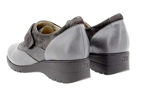 Scarpe Piesanto Casual Grigio 9956 Speciale Larghezza Comfort Pelle Donna gzqOdnazwR