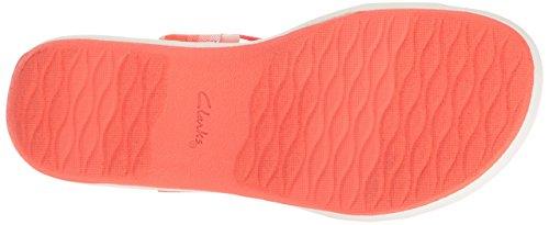 Clarks Women's Brizo Ravena Flat Sandal Coral JPdmQVvn0u