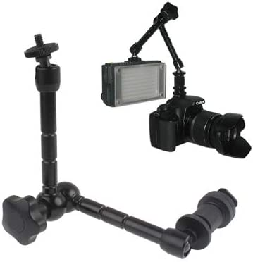Stand Bracket Hyx 11 inch Articulating Magic Arm for LCD Field Monitor//DSLR Camera//Video Lights Black