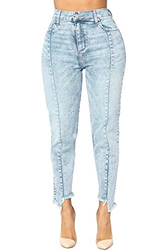 Raw Seam S Donna Vivo A Blue Taglio Jeans Da Accent 6RBw00