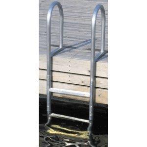 Docks Boat Aluminum (Dock Edge 4 -Step Fixed Welded Aluminum Dock Ladder)