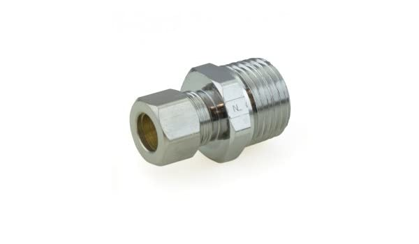 """10 PIECES 3//8/"""" OD COMPRESSION X 1//2/"""" MIP MALE ADAPTER LEAD FREE BRASS"""