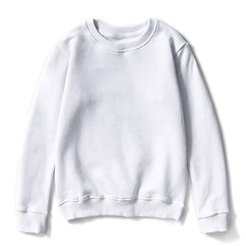 Crewneck Sweatshirt,Unisex Girls Boys Solid Pullover, used for sale  Delivered anywhere in USA
