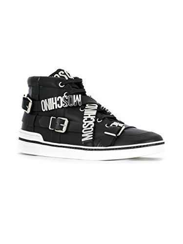 MOSCHINO HOMME 563139102 NOIR CUIR BASKETS MONTANTES