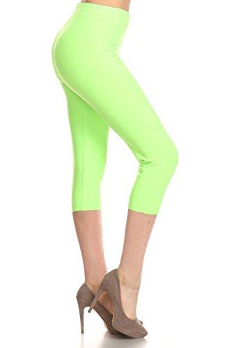68f973fd6ab Leggings Depot Women s Popular Basic Capri Cropped Regular and Plus Solid High  Waist Leggings 33+