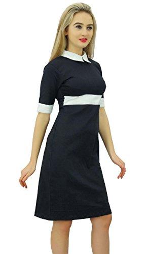 Col À Manches Courtes Noir Femmes Bimba Cou Robe Moulante T-shirt Noir De Vêtements De Cérémonie