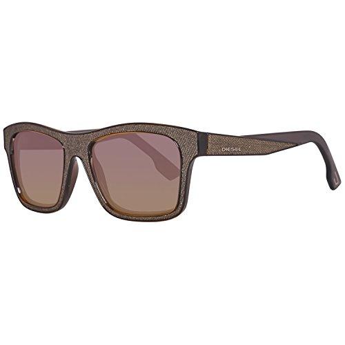 Diesel DL00715520B Wayfarer Sunglasses,Grey,55 (Diesel Plastic Sunglasses)