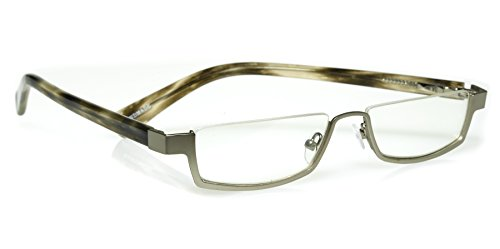 eyebobs Peek Performer, Silver and Horn, Reading Glasses SUPERIOR QUALITY – because your eyes deserve the good - Can In You Bans Ray Replace Lenses