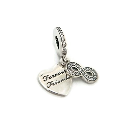 PANDORA 791948CZ Forever Friends Dangle Charm