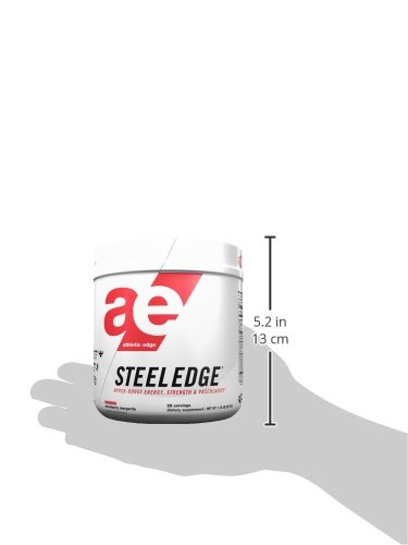 Athletic Edge Steeledge Pre-Workout Powder, Strawberry Margarita, 1.12 Pound,17.76 Ounce