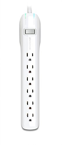 360 Electrical 360314 Suite+ 6 Outlet Surge Strip, 6', White