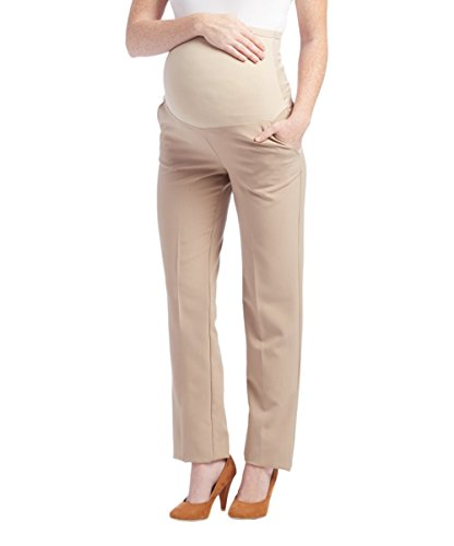 Khaki Career Pants - Times Two Maternity Women's Straight Leg Dress Pants (Medium, Khaki)...
