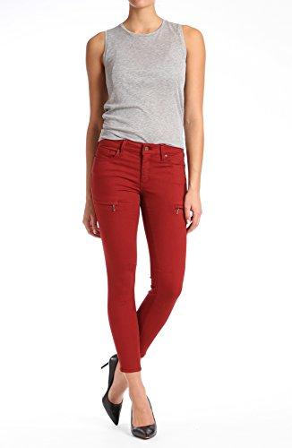 Mavi Jeans Women's KARLINA MID Rise Super Skinny Twill, Brick, 26
