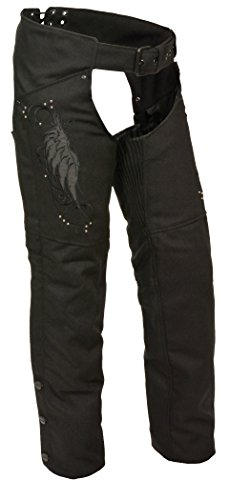 Milwaukee Performance Women's Doublon Chaps with Wings (Black, Small) (Stretch Chaps Womens)