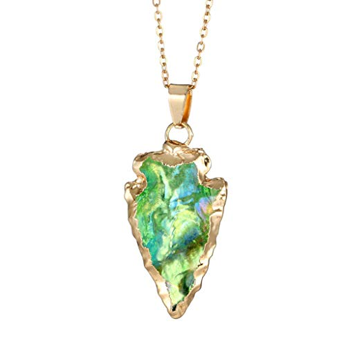 DDKK Hot New Sale!!! Women Fashionable Colorful Stone Swarovski Crystal Unique Natural Gold Plated Forever Lover Heart Pendant Necklace Chain,Mother's Day/Anniversary/Birthday Girl Gift (Green)