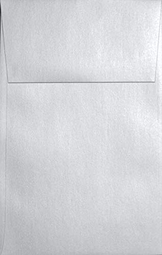 (Metallic White Crystal A10 (6-x-9-1/2) Envelopes 250-pk - 120 GSM (81lb Text) PaperPapers Large Invitation, Social and DIY Mailable Envelopes)
