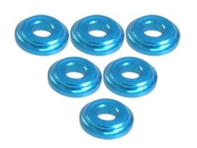 - 3Racing RC Model Hop-ups 3RAC-WFS820/LB 3Racing Shock Tower Shim M8 x 2mm (6pcs) - Light Blue