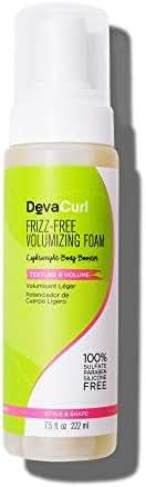 DevaCurl Frizz-Free Volumizing Texture Foam, 7.5 Fl Oz (Pack of 1)