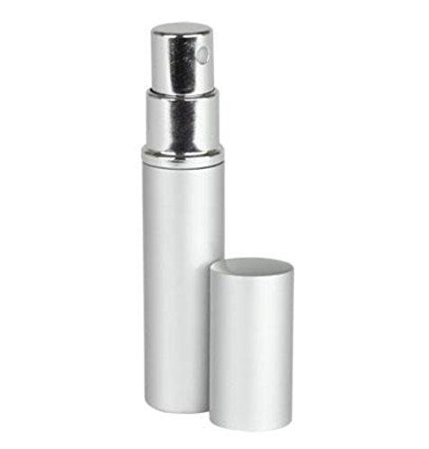 Silver Aluminum Perfume Atomizer Fine Mist Sprayer 3 ML for purse or travel Refillable by MagnaKoys (1 piece)