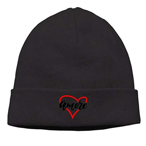 Valentine Amore Outdoor Unisex Winter Twist Pattern Hat Knitted Hats Sports Caps