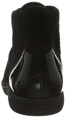 Hassia Prato, Weite H - Zapatillas Mujer Negro - Schwarz (0100 Schwarz)