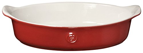 Emile Henry 369028 HR Ceramic Small Oval Baker, Rouge