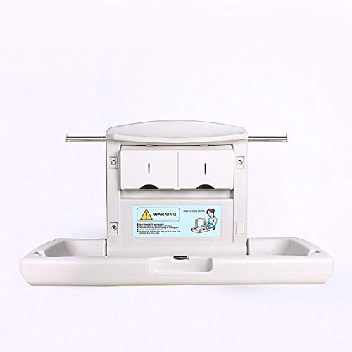 AB Baby Changing Station with Dual Liner Dispensers for 13 x 18 Liners Horizontal Wall Mounted Grey