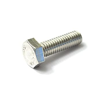 M4x16 Stainless Steel Hex Head Screws//Bolts,Full Thread,Pack of 50-Piece