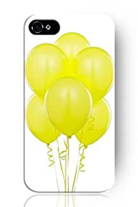 SPRAWL Cute Design Apple Iphone 5 5S Hard Protective Case Cover for Teen Girls --Bright Yellow Balloon