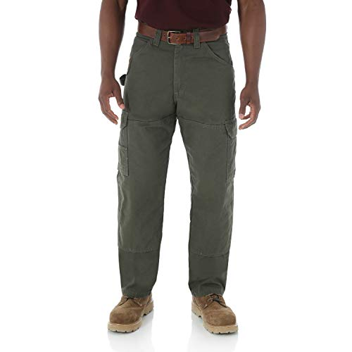 RIGGS WORKWEAR by Wrangler Men's Ranger Pant, Loden,35 x - Shelving Edge