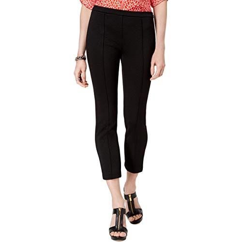 Michael Michael Kors Womens Jacquard Cropped Skinny Pants Black S