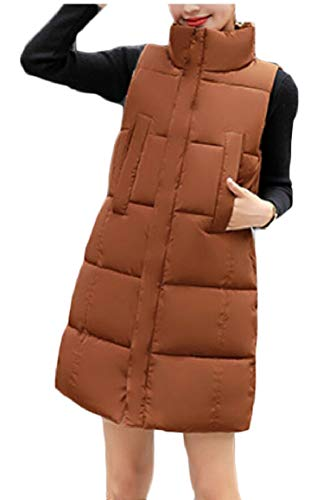 1 Zip Long Vest Coats Down Thickened Casual Jacket Women's security qFg0zx