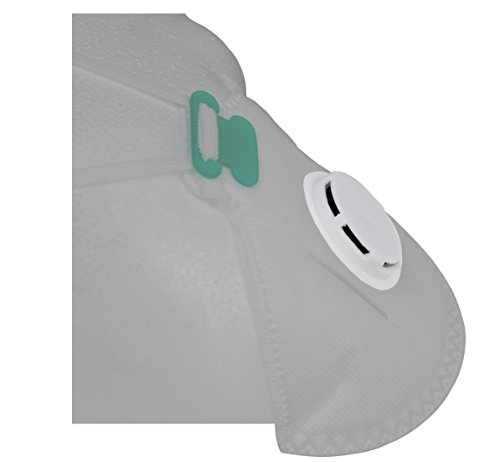 PneumaticPlus Benehal Respirator Disposable Dust Mask - NIOSH N95 Approved with Nose Clip and Exhaust Valve, Pack of 10 by PneumaticPlus (Image #3)