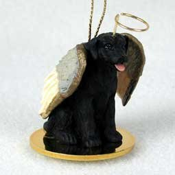Black Lab Retriever Tiny One Dog Angel Christmas Ornament by C.C - Tiny One Dog Ornament
