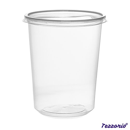 32oz Plastic Deli Food Storage Containers with Lids 50 Count