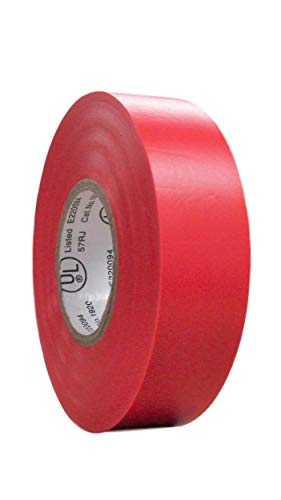 """(TradeGear SINGLE ROLL RED MATTE Electrical Tape, Colored Durable Adhesive, Waterproof PVC, Rubber Resin, UL Listed, 60' x ¾""""x 0.07"""