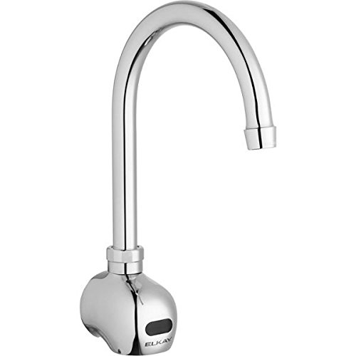 - Elkay LKB722C Commercial Electronic Sensor Scrub/Handwash Battery Powered Wall Mount Faucet, Chrome