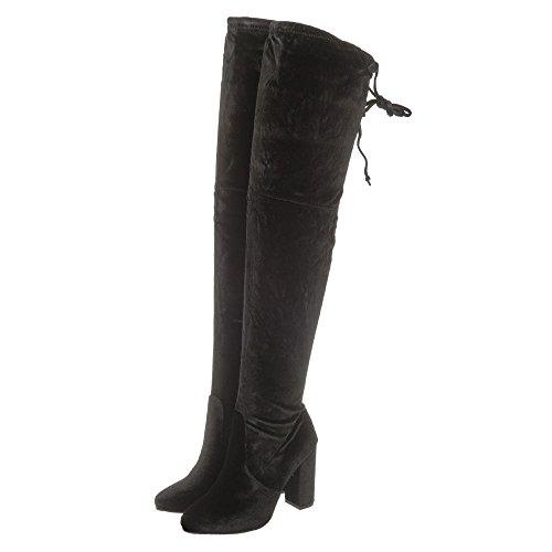 Suedette Black Shoes Sandales Compensées Femme Diva Miss gFfYwqZC