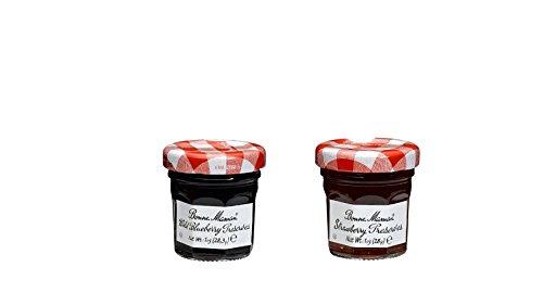 Bonne Maman Duo Mini Jars - 1 Oz X 30 Pcs (15 Strawberry, 15 Blueberry)