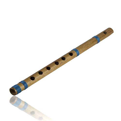 Unique Birthday Gift Ideas 11 Inch Authentic Indian Wooden Bamboo Flute in 'E' Key Fipple Woodwind Musical Instrument Recorder Traditional Bansuri Hand Crafted Novelty Gifts Men Women Kids