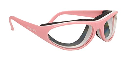 RSVP Tearless Pink Kitchen Onion Goggles, supports Breast Cancer - Shape For Your Find Face Glasses
