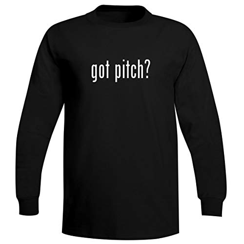 The Town Butler got Pitch? - A Soft & Comfortable Men's Long Sleeve T-Shirt, Black, Large