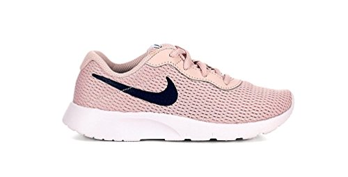a30a9ac4693 Galleon - NIKE Girl s Tanjun Shoe Barely Rose Navy White Size 1.5 M US