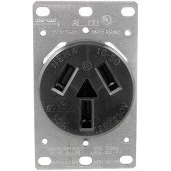 Pass & Seymour 5206 Single-Flush Range Receptacle (3 wire) (Receptacle Flush Range)
