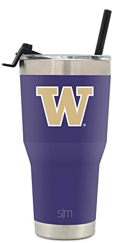 Simple Modern Washington University 30oz Cruiser Tumbler with Straw & Flip Lid - Vacuum Insulated Stainless Steel Travel Mug - Tailgating Cup College Flask