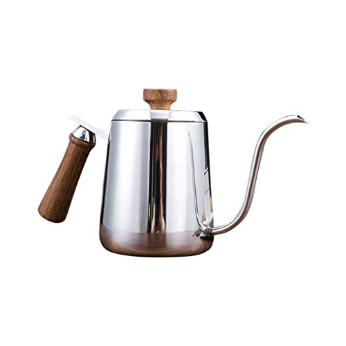 350ml/600ml Stainless Steel Gooseneck Thermal Kettle Hand Drip Tea Pot with Lid - Coffee/Tea Carafe Heat Amiley (350ML)