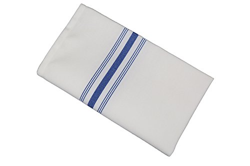 (RC ROYAL CREST by Sigmatex-Lanier Textiles Cloth Dinner Bistro Napkins Restaurant Quality 18 x 22 Inches 12 Pack (Royal Blue Stripes))
